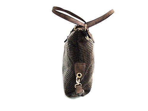 Borsa donna Coveri Collection shopping a spalla 17230-1 moro
