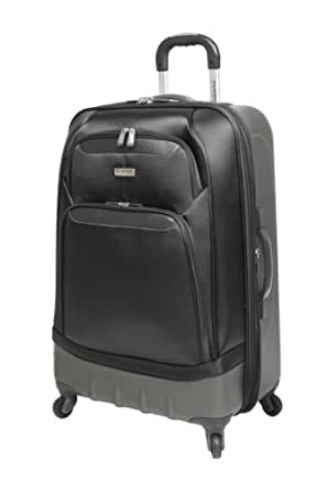 Ricardo Beverly Hills Luggage San Mateo 25 Inches 4 Wheeled Expandable Upright, Red Ocher/Silver, 25x18x11.5