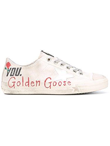 GOLDEN GOOSE FEMME G30WS639M4 BLANC TISSU BASKETS