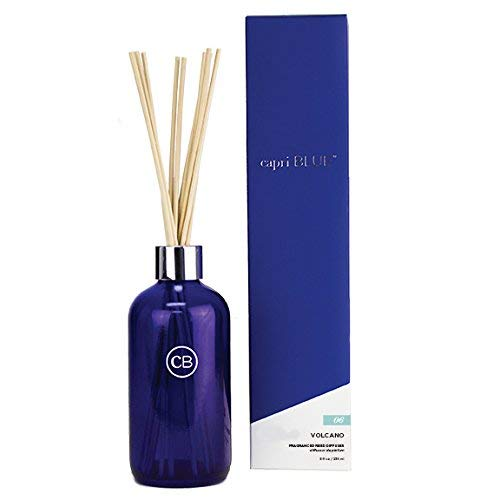 Capri Blue capri06 Reed Diffuser Set Fragrance 8 Fl. Oz-Volcano No. 6, 6in Height by 2.25in Diameter, 10in Stick, Blue