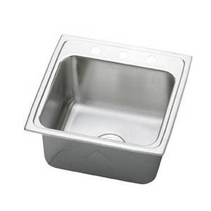18 Gauge Stainless Steel 19.5' X 19' X 10.1875' Single Bowl Top Mount Laundry/Utility Sink
