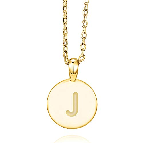- PAVOI 14K Yellow Gold Plated Letter Necklace for Women | Gold Initial Necklace for Girls | Letter J