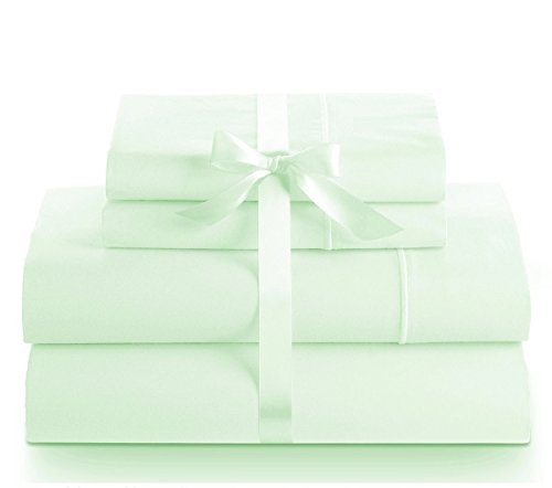 Linenwalas Cal King Sheet Set - 800 Thread Count Ultra Soft 4 Piece Bed Sheet Set, Breathable, Hypoallergenic, Cozy Sheets (Cal King , Mint)