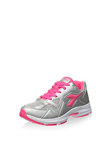 Diadora Zapatillas Shape 5 Jr Plata/Rosa Flúor EU 36.5 (4 UK) ZmOom