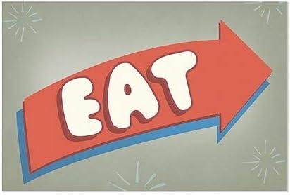 Eat CGSignLab 27x18 5-Pack Nostalgia Arrow Window Cling