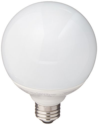 TCP 1G3014 CFL G30 Globe - 60 Watt Equivalent (only 14w used!) Soft White (2700K) Covered Decorative Globe Light Bulb