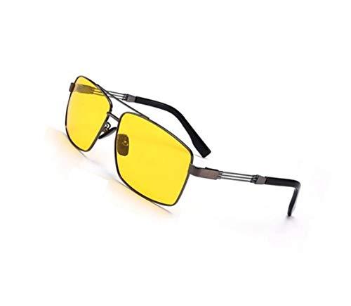 metal gafas protectoras Gafas visión sol Yellow de Gafas de Ciclismo de nocturna polarizadas UV400 FlowerKui sol de amarillo unisex Marco sol de de conducción Gafas TqxgEnavXw