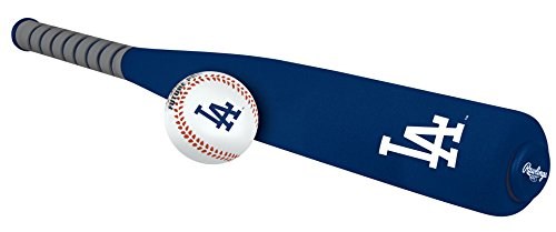 Los Angeles Dodgers Bat - MLB Foam Bat and Ball Set Los Angeles Dodgers,One Size,Blue
