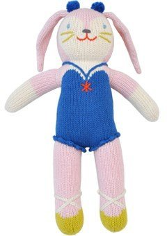 Blabla Mirabelle the Bunny Mini Plush Doll - Knit Stuffed Animal For Kids. Cute, Cuddly & Soft Cotton Toy. Perfect, Forever Cherished. Eco-Friendly. Certified Safe & Non-Toxic.
