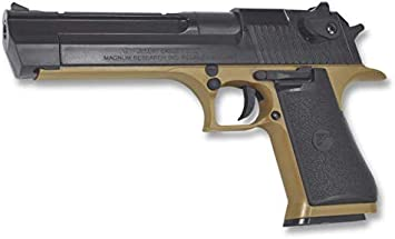 Desert Eagle Pistola Airsoft Aire Suave Desert Eagle 50AE Potencia 0,50 Julios Airsoft Replica Paintball Caza Supervivencia tactico Senderismo Camping Outdoor Albainox 38266 + Portabotellas de regalo