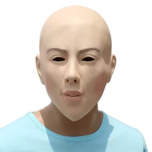 Female Face Latex Mask Fancy Dress Halloween Costume Living Dolls Crossdresser -