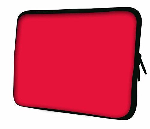"""10""""-17.6"""" Pulgadas Bolso con diseño, Funda en Neopreno para Ordenador Portátil. Muchos diseños y tamaños disponibles!! (Part 2 of 3) Rojo"""