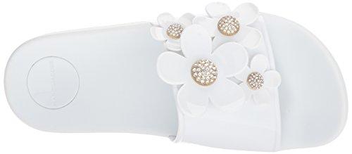 Marc Jacobs Womens Daisy Pave Aqua Slide Sandal White 6tZ7kVO2