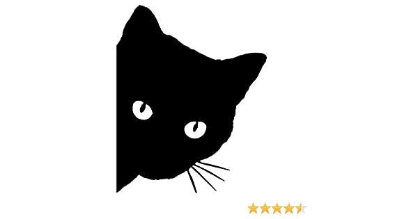 negro ZERTRAN Coche Estilo Pegatina Decoraci/ón del coche Etiqueta engomada del coche DIY para Cabeza de gato