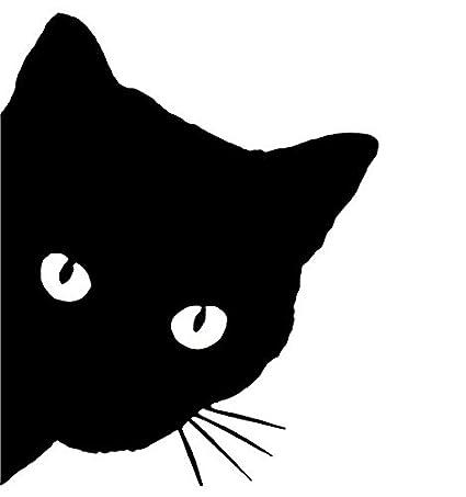 Zertran Auto Styling Aufkleber Autodekoration Auto Diy Aufkleber Zum Katzenkopf Schwarz Baby