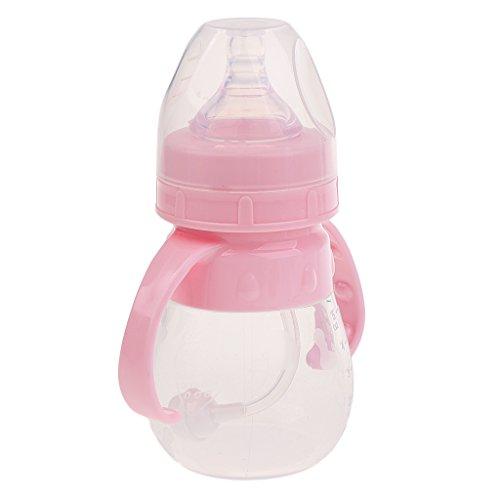 Baby Milchflasche Geschenk Einfach Sauber BPA Frei Kein Gas Weniger Rülpsen Design - Rosa, 240ML