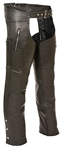 Milwaukee Leather Zippered Thigh Pocket Chaps (Black, ()