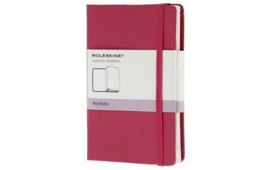 Moleskine Classic Portfolio, Pocket, Magenta, Hard Cover