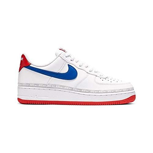 Nike AIR Force 1 '07 LV8 WhiteGame ROYAL Habanero RED 12