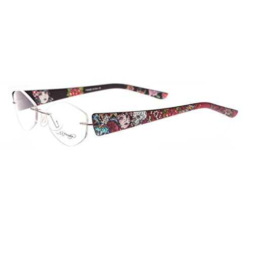 Ed Hardy EHL-819 Lite Designer Eyeglasses - Brown/Pewter (Ed Hardy Accessories)