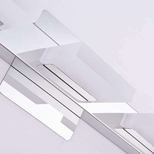 mirrea 18in Modern LED Vanity Light in 3 Lights Stainless Steel and Acrylic 16w Cold White 5000K by mirrea (Image #5)