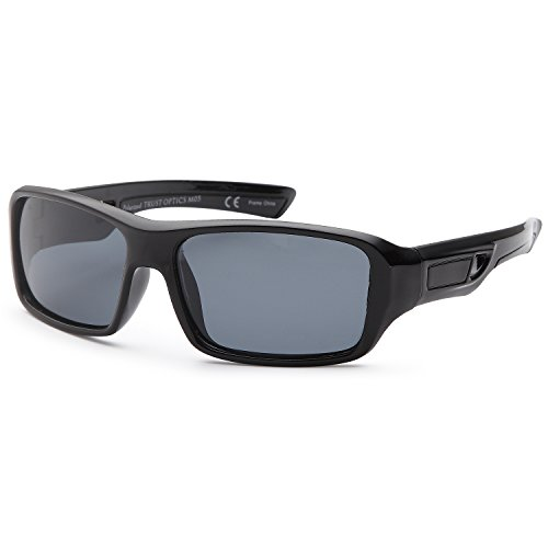 TRUST OPTICS Kids Age 3-10 Soft Flexible Polarized Sporty Sunglasses - Black Sports Style