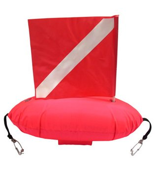 Trident Spear Fisherman's Float with Dive Flag and Quick Release Clips by Trident