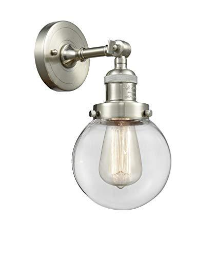 - Innovations 203-SN-G202-6 1 Light Sconce Brushed Satin Nickel