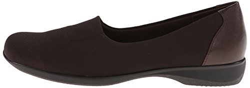 N Black Kid Dark Stretch Women's Us Leather burnished Flat 6 Trotters Brown Jake 1gfAOAB