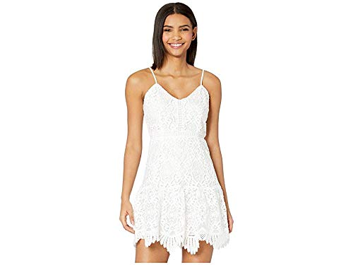 BB Dakota Women's Party has Arrived Scalloped lace Dress, Ivory, 8
