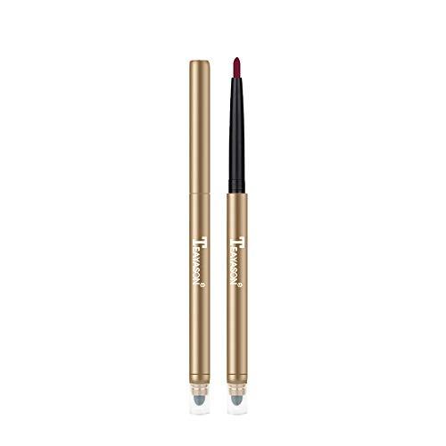 Clearance Sale!UMFun Double Head Automatic Waterproof Lip Liner Velvet Long Lasting Matte Lipliner Pencil Pen (L)
