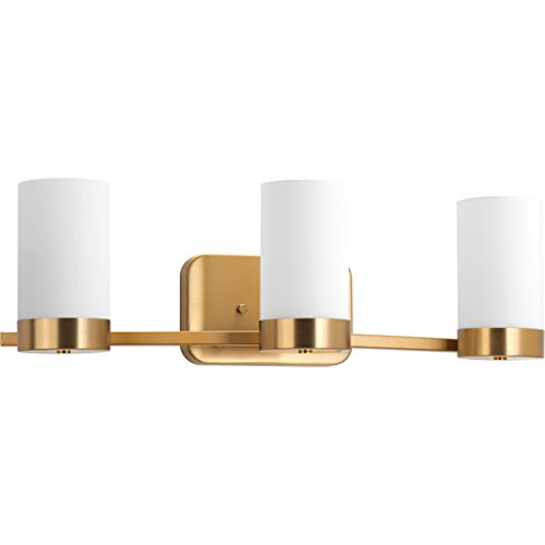 Progress Lighting P300022-109 Elevate Collection Three-Light Bath & Vanity, Brushed Bronze