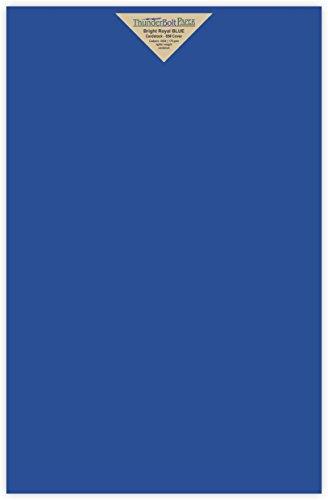25 Bright Royal Blue Color 65# Cover/Card Paper Sheets 11 X
