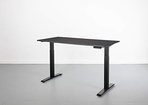 ABLE Adjustable Height Standing Desk - Laminate Top - Dual Motor Electric Sit Stand Desk - LED Memory Handset (58