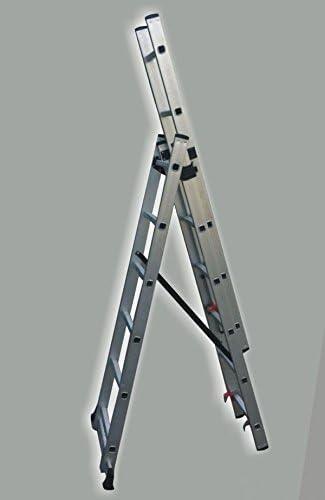 ESCALERA ALUMINIO EXTENSIBLE 3TRAMOS x6PELDAÑOS GARANTIZADA 3.35MT: Amazon.es: Bricolaje y herramientas