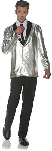(Underwraps Men's 1950s Doo Wop Costume Jacket-Silver, One)