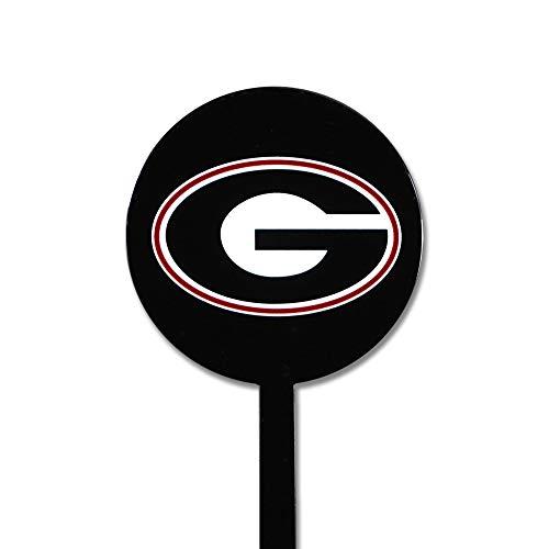 Authentic Street Signs NCAA Georgia Bulldogs Garden Decor - Decorative Metal Yard Stake, Indoor/Outdoor, Black