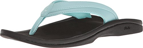 OLUKAI Women's Ohana Sandal, Sea Glass/Black, 7 M US ()