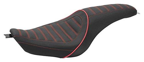 10-19 HARLEY XL883N: Revere Journey 2-Up Seat - Stripe (Standard) (Dark Cherry Red)