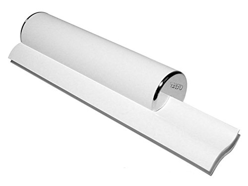 - Cleret ELITE Bath & Shower Squeegee with Chrome End Caps & Dual White Cleaning Blades Made in USA