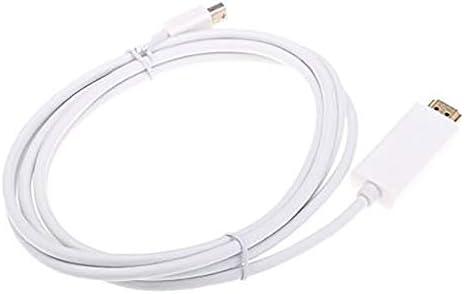 Blanc Adaptateur de Conversion multimode MD08 Mini Displayport DP vers HDMI c/âble dordinateur Adaptateur de Conversion MD19 Mini DisplayPort