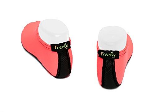 Freely Barefoot Water Skin Shoes Aqua Socks For Beach Swim Surf Yoga Exercise Peach Orange aEneE9