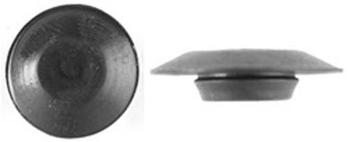 100 3/8'' Black Plastic Flush Type Hole Plugs 3/4''Head Clipsandfasteners Inc