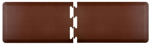 WellnessMats Anti Fatigue Puzzle Kitchen Brown