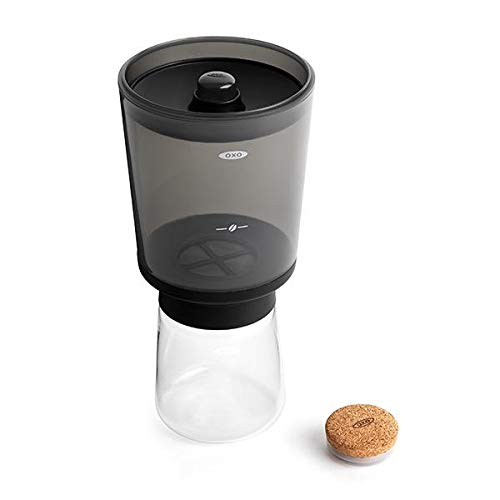 OXO 11237500 Compact Cold Brew Coffee Maker, One Size, Metallic