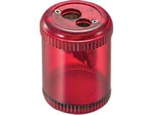 Officemate Pencil/Crayon Sharpener, Twin, Red (OIC30240)