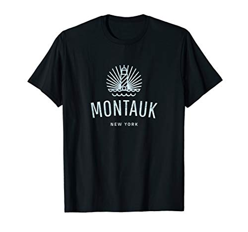 Montauk New York lighthouse retro souvenir gift idea T-Shirt