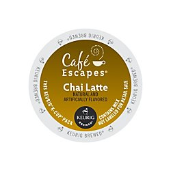 Café Escapes Keurig Single-Serve K-Cup Pods, Chai Latte, 24 Count (packaging may vary)