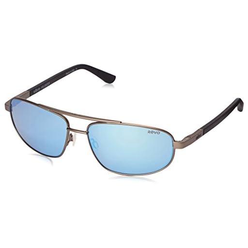 8c8e9ab730b Revo Unisex Unisex RE 1013 Nash Aviator Polarized UV Protection Sunglasses