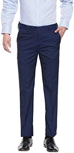 VETTORIO FRATINI by Shoppers Stop Mens 4 Pocket Textured Formal Trousers